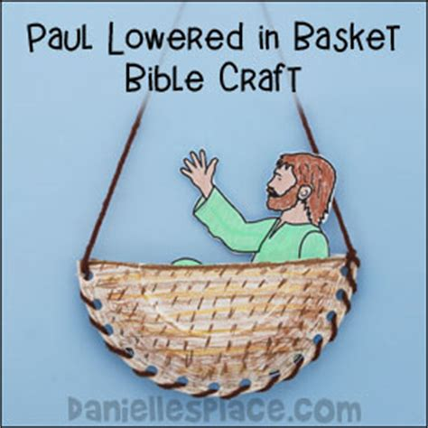 The Wall The Story Of Pauls Escape In A Basket apostle paul bible crafts and activities for sunday school