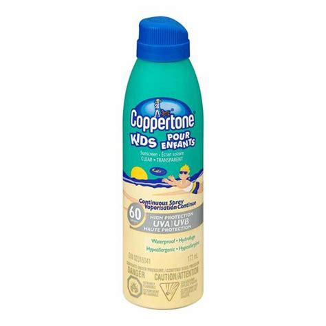 Coppertone Waterproof Sunscreen Spray Spf60 222ml coppertone continuous spray clear sunscreen spf 60 reviews in sun protection chickadvisor