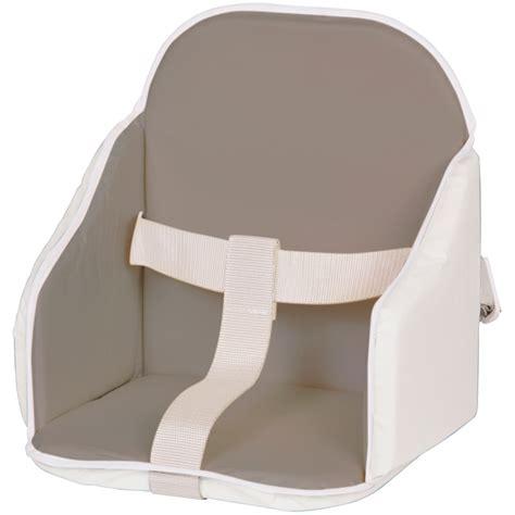 coussin rehausseur chaise coussin de chaise pvc gris blanc de candide en vente chez cdm