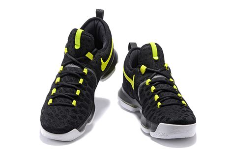 cheap nike shoes basketball cheap nike kd 9 black neon green basketball shoes on sale