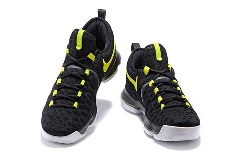 nike kd  black yellow mens basketball shoes