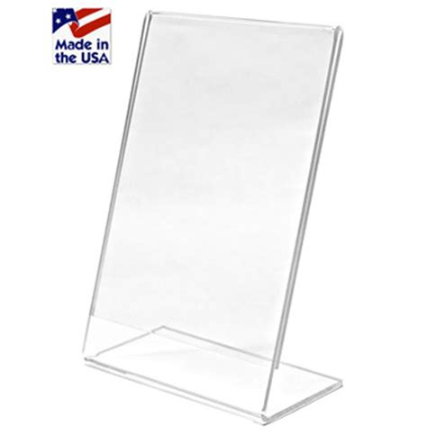 table stands for signs slant back letter size sign holder 8 5 quot w x 11 quot h