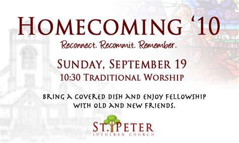 St Peter Lutheran Tradition Meets Today Church Homecoming Program Template