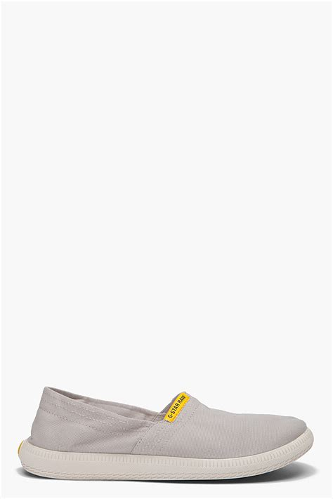 grey slip on shoes g limber slip on shoes in gray for grey lyst