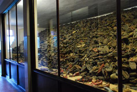 shoe room holocaust museum inside auschwitz concentration c pommie travels