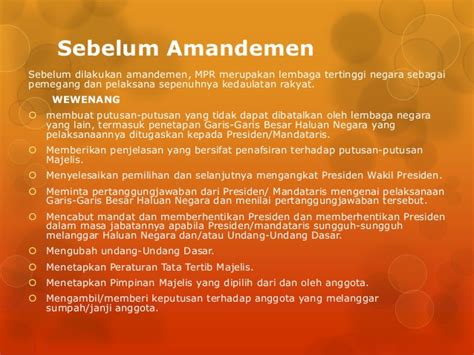 Konstitusi Indonesia Prosedur Sistem Perubahan Sebelum Dan Sesudah sistem pemerintahan indonesia sebelum dan sesudah amandemen