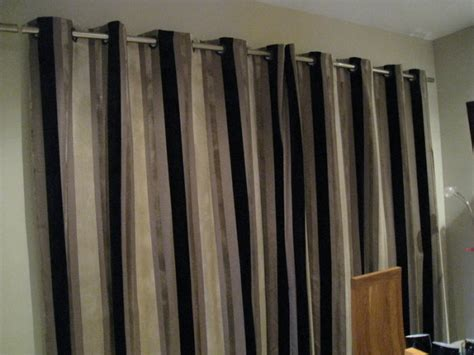 cream and black striped curtains next luxury signature black mink cream striped curtains 66