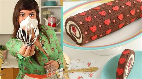 heart patterned roll cake how to make heart cake roll chocolate cake roll filled