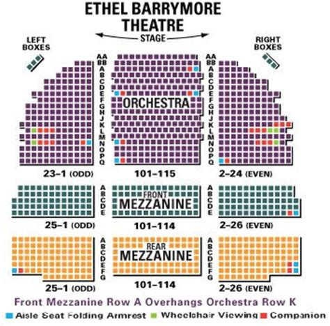 barrymore theatre seating view barrymore theatre seating chart the band s visit guide