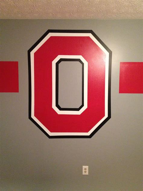 Ohio State Block O Outline by Osu Block Quot O Quot I Painted In My Boys Room Images Frompo