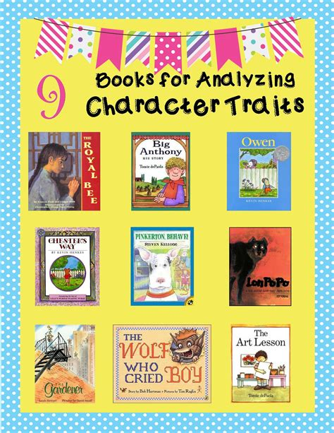picture books for character traits character trait lessons