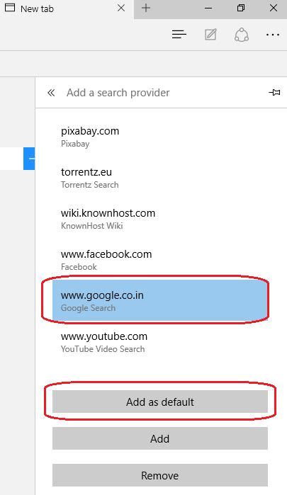 How To Make My Address Bar Search Engine Change Default Search Engine To In Microsoft Edge