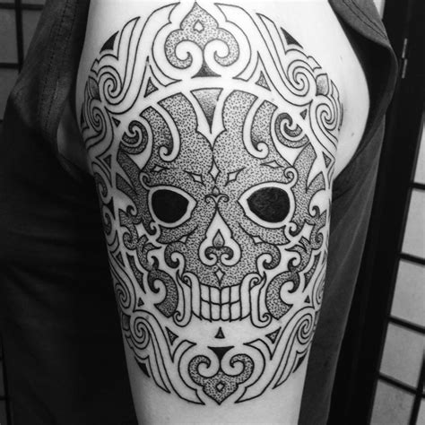 tribal skull tattoos for men best tribal tattoos for to follow