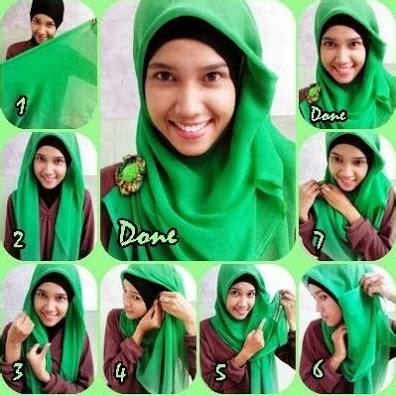 tutorial berhijab untuk sekolah cara memakai jilbab segi empat untuk sekolah