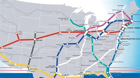 us railroad companies map a beautiful vision of an american high speed rail map