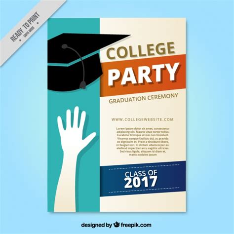 Graduation Brochure Templates by Collage Brochure With Graduation Cap Vector Free