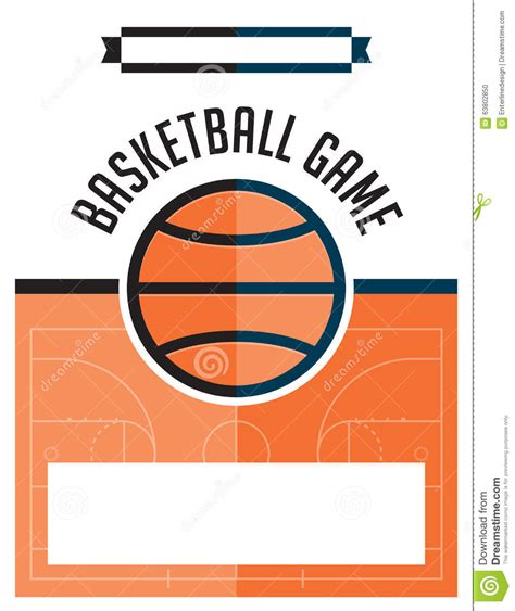 Basketball Game Flyer Illustration Stock Vector Illustration Of Design Party 63802850 Basketball Poster Template