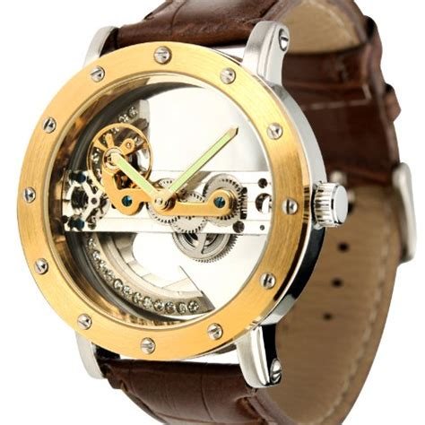 Ess Luxury Leather Automatic Mechanical Diskon ess luxury leather automatic mechanical wm353 brown gold jakartanotebook