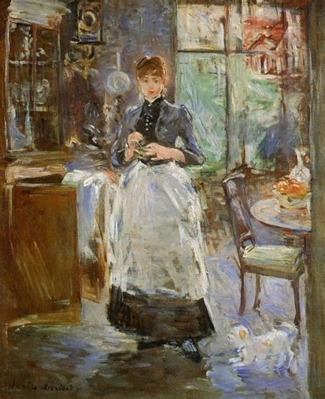 berthe morisot in the dining room french impressionist painter berthe morisot beauty will save