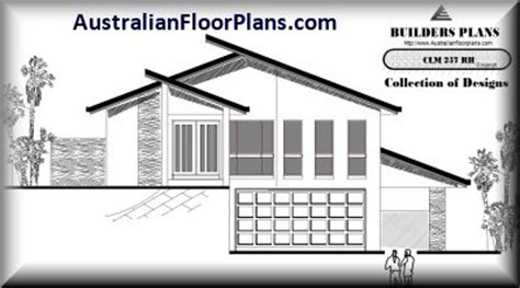 Hillside House Plans With Garage Underneath by Right Floor Plans Australian