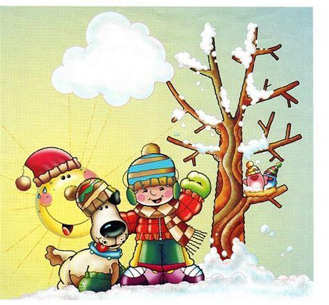 imagenes infantiles invierno dibujos estaciones del a 241 o