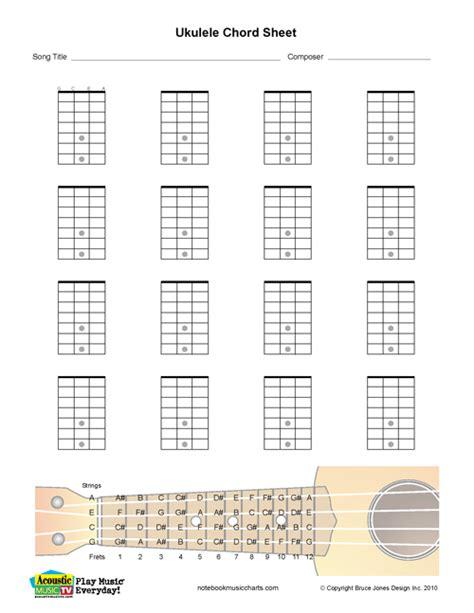 printable blank ukulele chord chart ukulele chord chart pdf