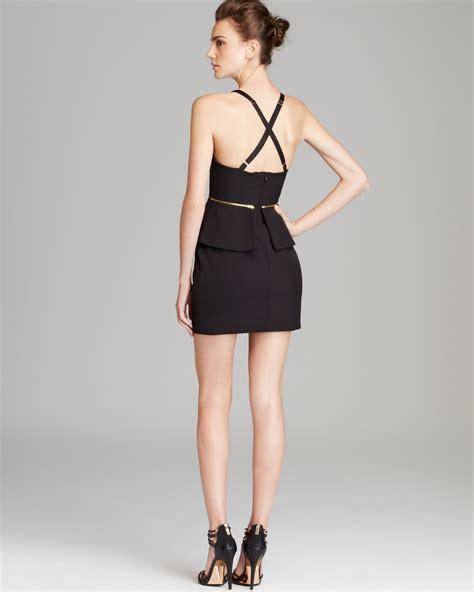 Christie Dress bec bridge peplum mini dress christie in black lyst