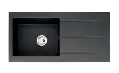 Abode Zero 1.0 Bowl Black Metallic Granite Kitchen Sink