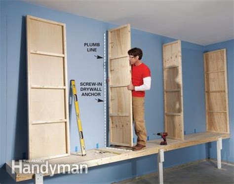 best wood to build garage cabinets giant diy garage cabinet the family handyman