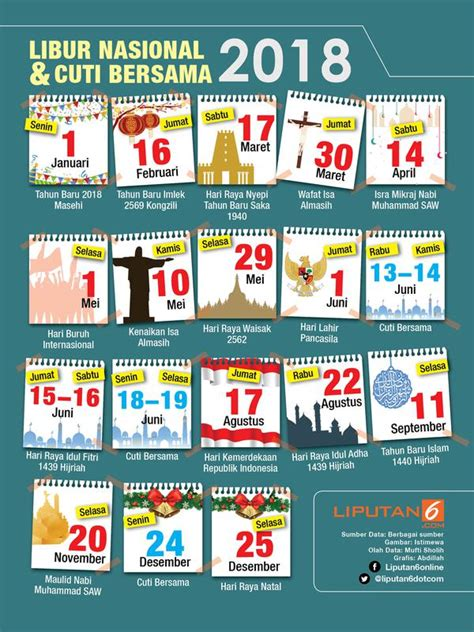 Dahsyatnya Hari Kiamat Original catat jadwal libur nasional 2018 news liputan6