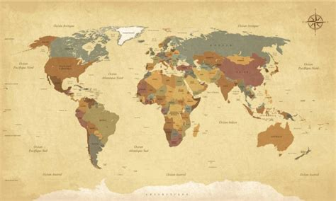 mural vintage world map walldesign56 wall decals