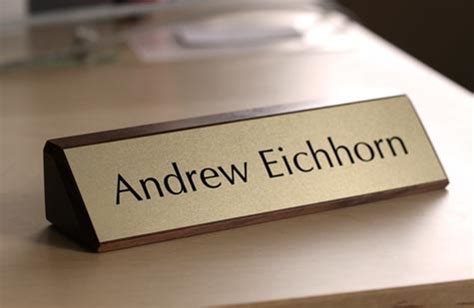 custom office desk signs solid wood desk signs walnut desk signs wooden office