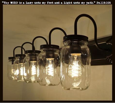 mason jar bathroom light fixture 17 best ideas about rustic bathroom vanities on pinterest