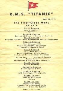 titanic third class menu newport local news last meals the foie gras fade out and