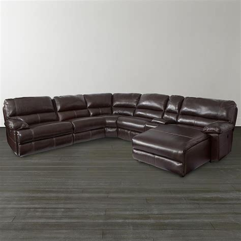 dillon leather sectional bassett 3948 csectw dillon motion chaise sectional
