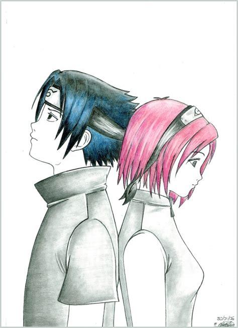 imagenes de sasuke y sakura para dibujar a lapiz sakura y sasuke by inner mel on deviantart