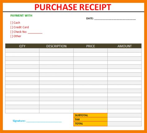 Purchase Receipt Template 12 Sle Purchase Receipt Template Downloadable In Word Pdf Excel