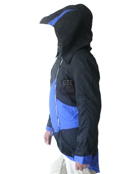 Jaket Asasin Blue Black black and blue cotton assassin s creed 3 coat jacket getmyleather