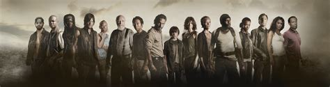 Poster Serial Tv The Walking Dead Cast 2 40x60cm the walking dead cast