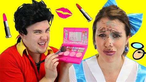 Makeup Makeover And The Beast the beast makeup fail with gaston vs