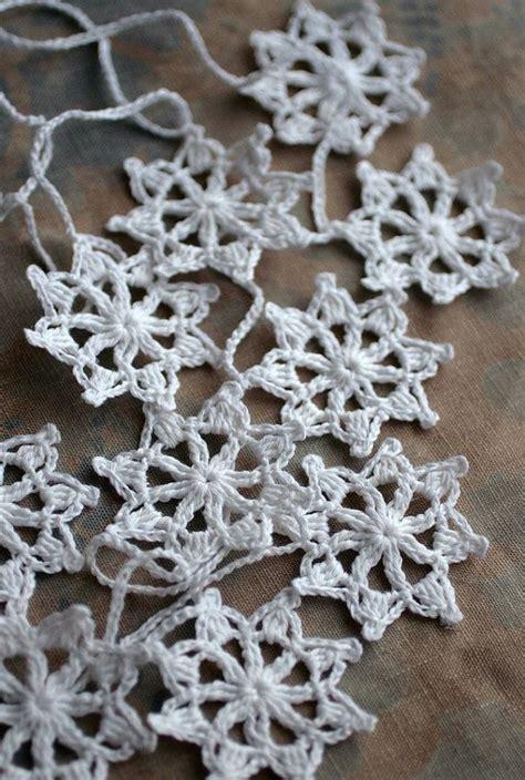 crochet pattern snowflake garland crochet garland wall hanging small doily bunting