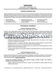 construction resume sle exle