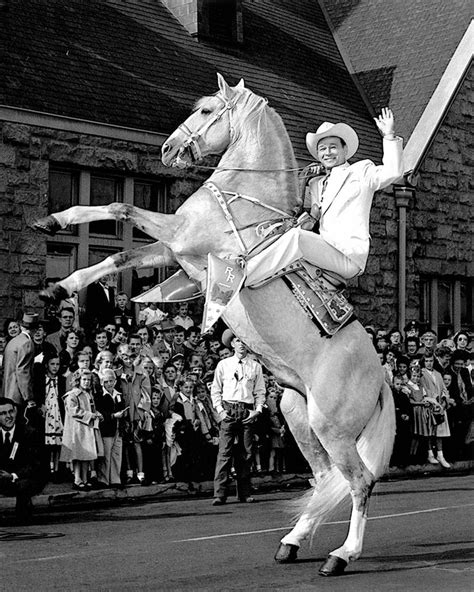 cowboy singer actor roy rogers and his trigger 8x10 photo ep 013 ebay