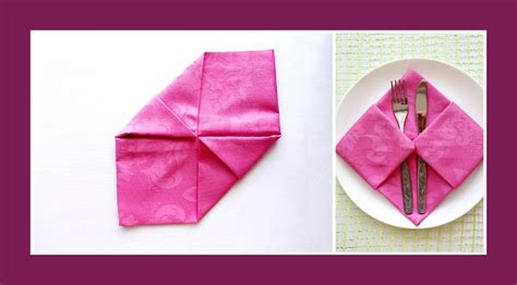 servietten falten tasche servietten falten tasche deko ideen