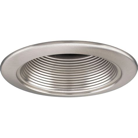 progress lighting 4 in brushed nickel recessed baffle