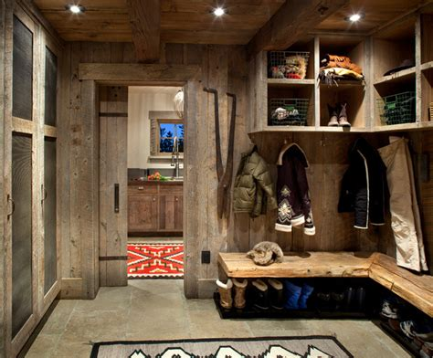 entry room design mudroom laundry room rustic entry other metro by