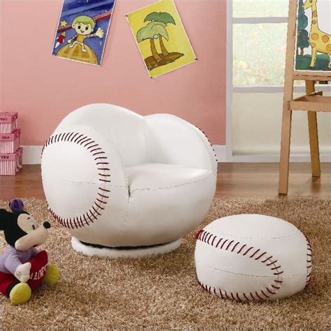 baseball chair and ottoman coaster kids sports chairs small kids baseball chair and