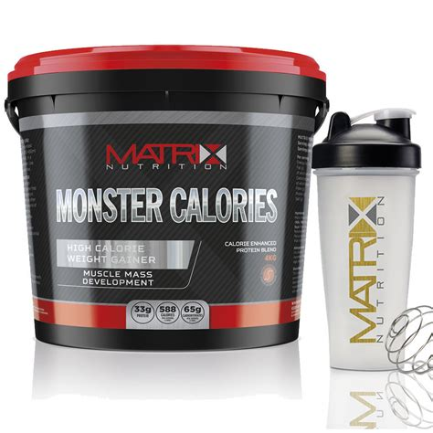 0 calorie creatine matrix calories anabolic mass protein weight