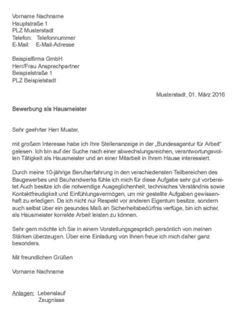 Lebenslauf Vorlage Hausmeister Muster Gt Bewerbung Als Hausmeister