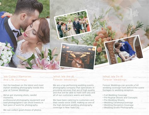 Wedding Brochure Template Indesign by Tri Fold Wedding Brochure Design Template In Psd Word